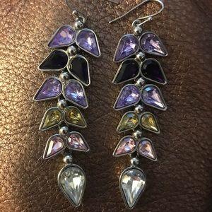 Like new jewelmint silver multi color earrings